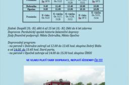 Jízdy historického vlaku - Opočno - Dobruška