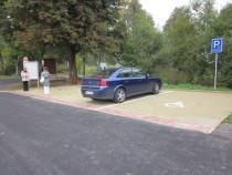 Parkoviště na hraničním přechodu Mladkov-Kamienczyk