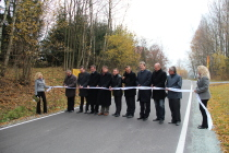 Slavnostní otevření komunikace k hraničnímu přechodu Olešnice v Orlických horách/Kociol