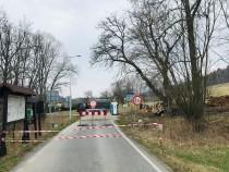 Uzavřený přechod Olešnice - Lewin jaro 2020